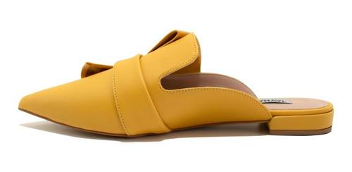 mule feminino taynara amarelo super confortável promoção