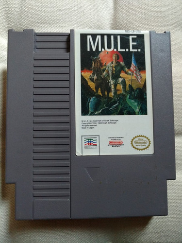 mule / m.u.l.e. americano nes original