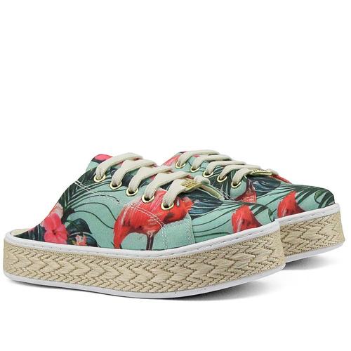 mule sapatilha feminina tênis calçar casual primavera/verão