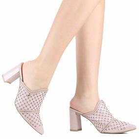 5fae4623c Sand Lia Salto Grosso Nude Tanara Outras Marcas - Sapatos no Mercado ...