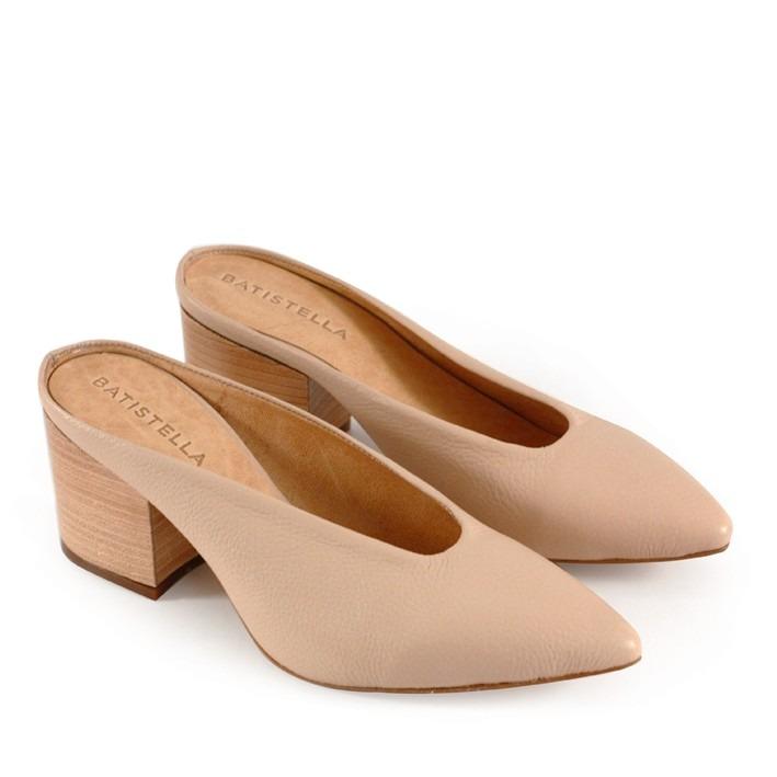 e9ce859d728 mules batistella zapatos · zapatos mules de cuero nude destalonados  batistella