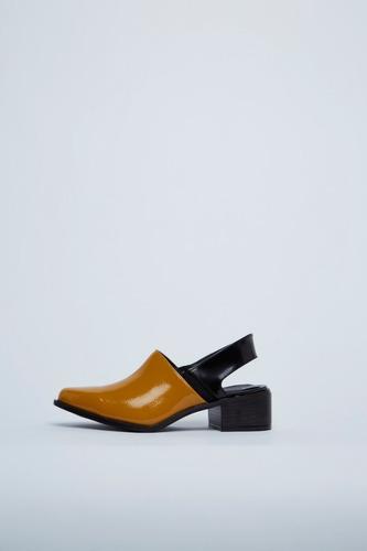 mules zapatos sin talón taco bajo verano 2019