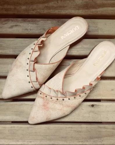 Talon Sin Bajos Mules Tipo Zapatos Cuero Zara De Zuecos Lr5a4j CdxreBoQW
