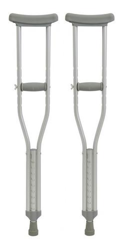 muletas axilares ajustables de aluminio resistente
