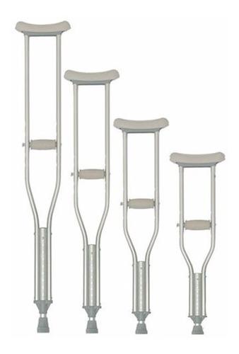 muletas axilares en aluminio y altura ajustable - reactiv