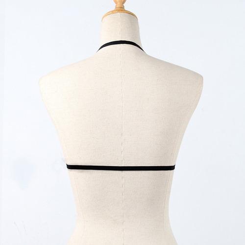 mulheres gaiola sutiã stretchy suspender bandage strappy