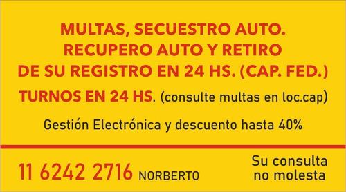 multas sistema de descuentos y recupero de vehiculos