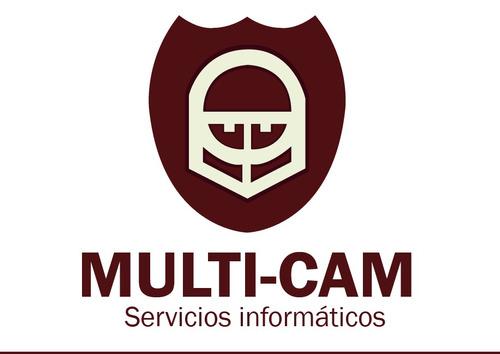 multi-cam servicio técnico pc, notebooks y cámaras ip