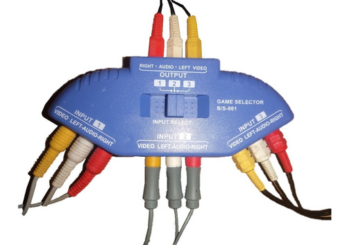 multi conector de consolas, entradas rca 3 a 1  envio gratis