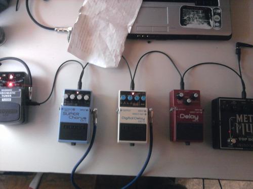 multi-conector para 8 pedales dod / boss: guitarra o bajo