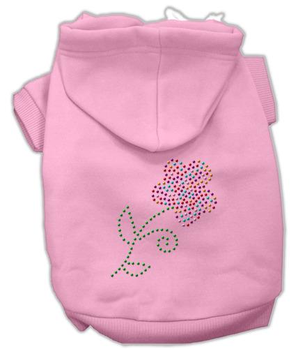 multi - de colores flor diamante de imitación capucha rosa