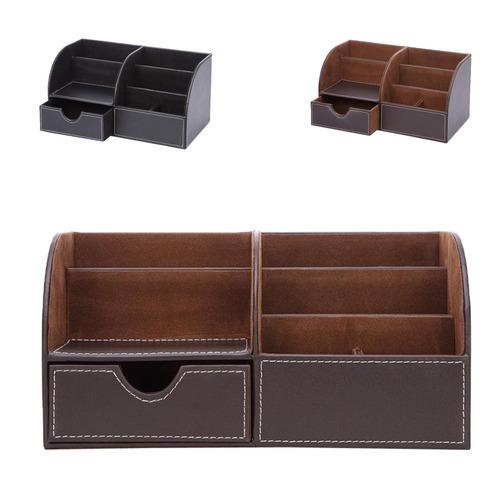 multi función de escritorio papelería organizador caja alm