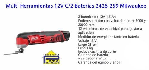 multi función herramienta con 2 bat. 12v milwaukee 2426-259