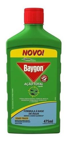 multi inseticida baygon liquido ação total 475ml kit 06 unid