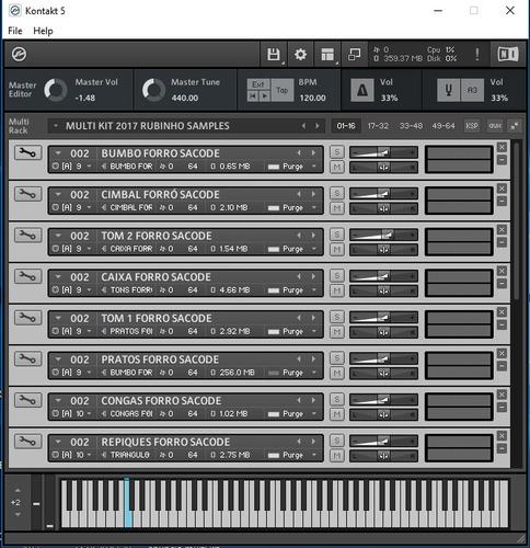 multi kit kontakt 2017 com 10 ritmos yamaha