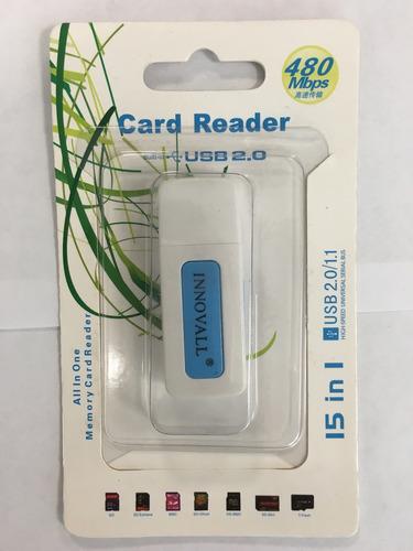 multi lector de tarjetas usb 15 en 1