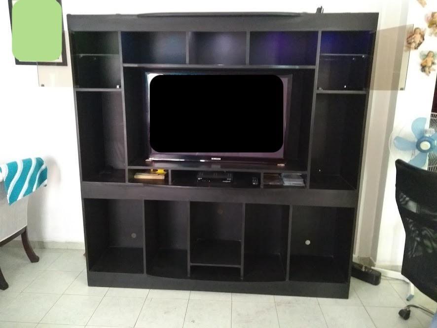 Multi mueble para tv y equipo de sonido en madera 650 for Muebles para televisor y equipo de sonido