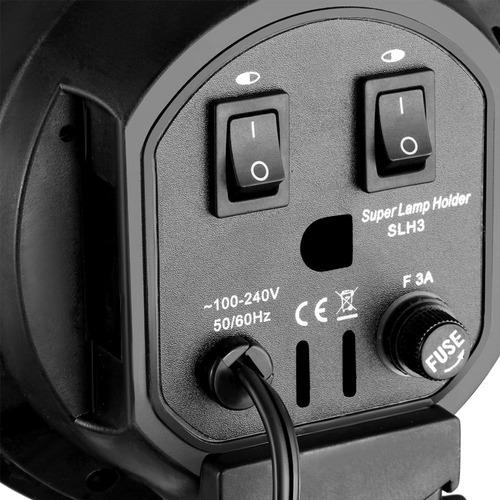 multi socket para 4 bombillos iluminacion fotografía y video