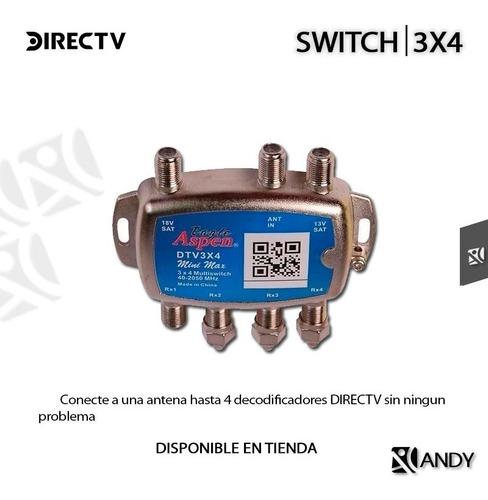 multi switch directv multi puertos aspen 4 salidas 3x4 andyc