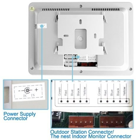 multi video monitor intercomunicador residencias pantalla 7