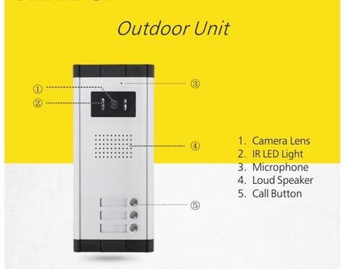 multi video portero intercomunicador 3 usuarios residencias