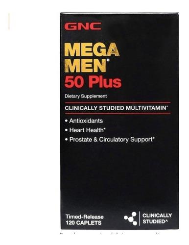 multi vitamina mega men 50 plus - envase de 120 caps