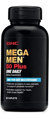 multi vitamina mega men 50 plus - envase de 60 caps