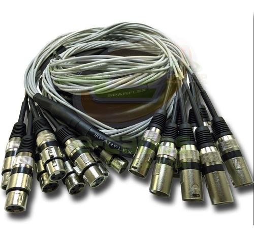 multicabo microfones percussão bateria 12 vias 12,50 m xlr