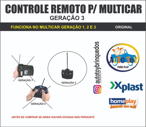 multicar 640 homeplay - só o controle remoto 27mhz original