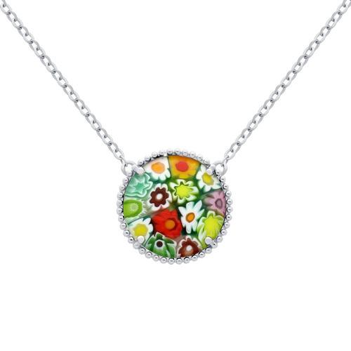 multicolor millefiori necklace