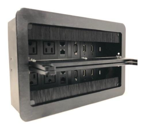 multicontacto grande para mesas de salas de junta