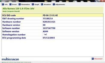 multiecuscan soft scanner alfa fiat soporta iaw 1g7 palio