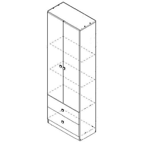 multifunción orlandi linea eco 2 puertas 2 cajones 3estantes