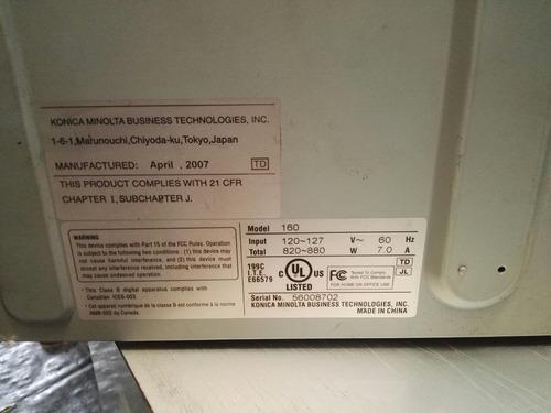 multifuncional bizhub 160 repuestos no funcional toner