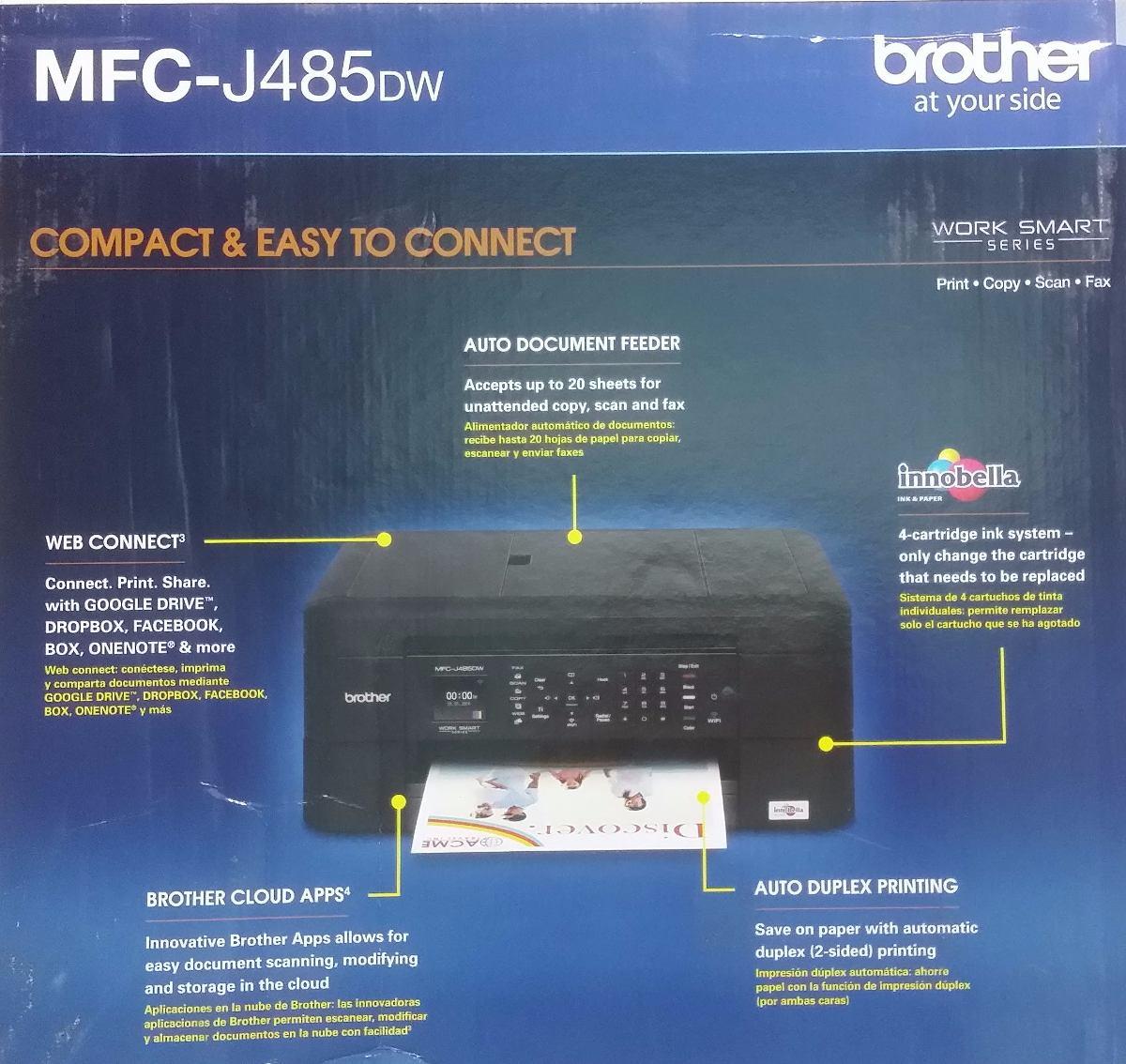 Multifuncional Brother J485 Cartuchos Tinta Similar 475