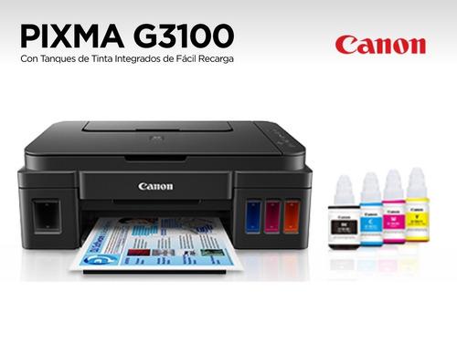 multifuncional canon g3100 con sistema de tintas de fabrica