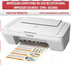 multifuncional canon mg2410 - impressora, copiadora e scaner