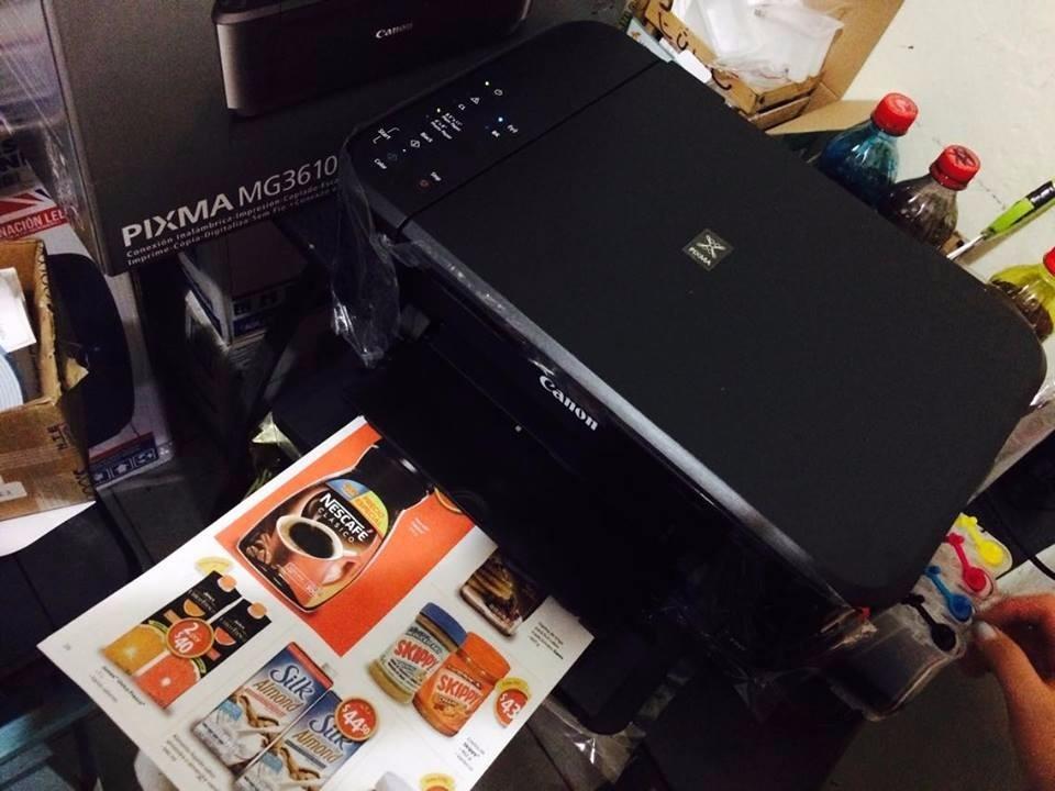 Multifuncional Canon Mg3610 Con Sistema De Tinta Continua
