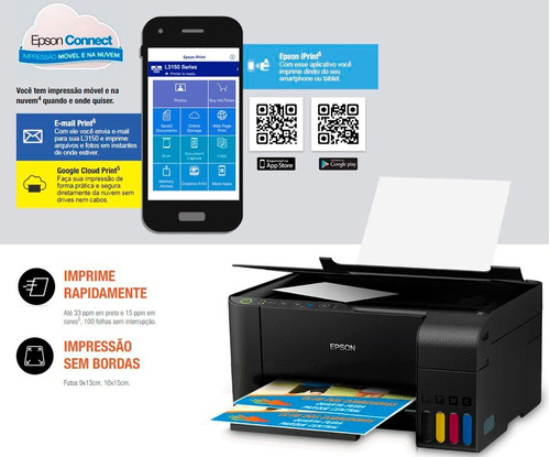 multifuncional epson l3150 copiadora ecotank