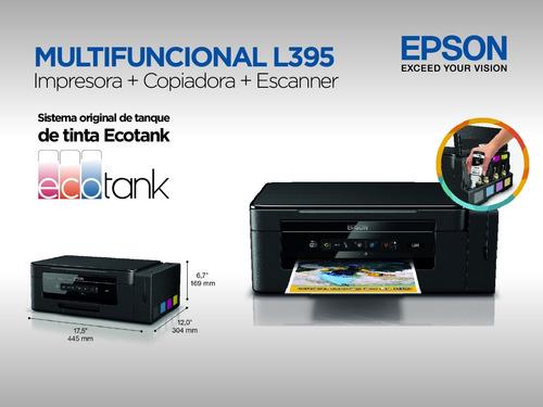 multifuncional epson l395 con sistema y tintas originales
