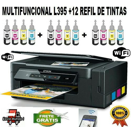 multifuncional epson l396  + 12 refil de tintas + brinde