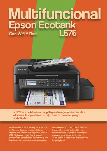 multifuncional epson l575 ecotank con wifi y red