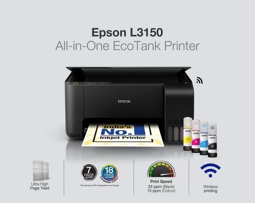 multifuncional epson tanque de tinta ecotank l3150 bivolt