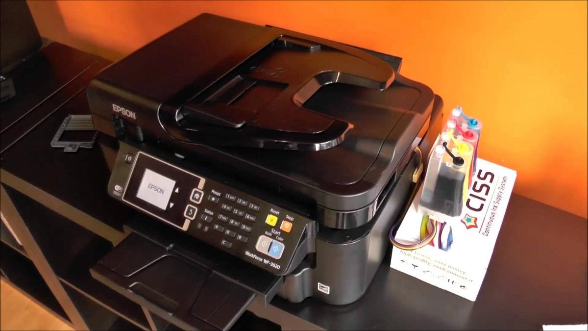Multifuncional Epson Wf 7610 Tabloide Sistema Tinta