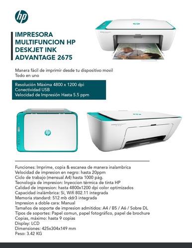 multifuncional hp 2675 (3635) wifi scan bivolt black friday