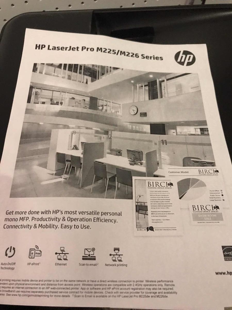 Multifuncional Hp Laserjet Pro Mfp M225dw Con Toner - $ 2,200 00