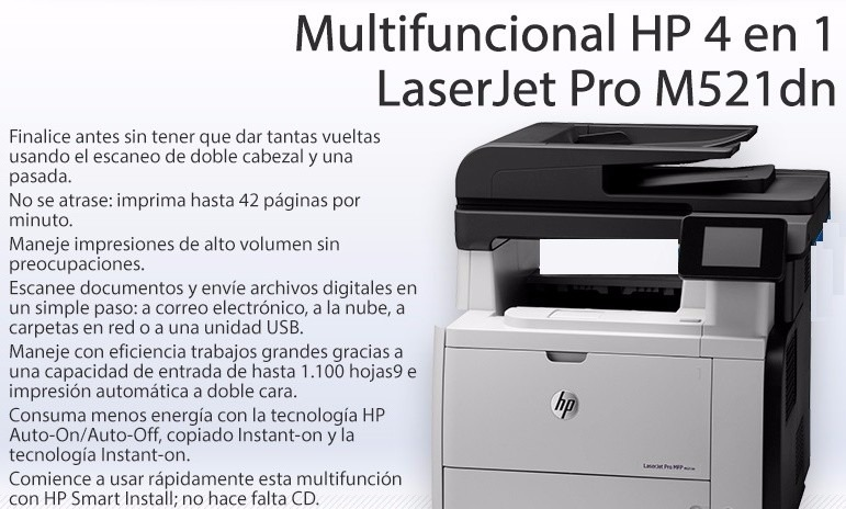 HP LaserJet Pro MFP M521dn Driver Software Download