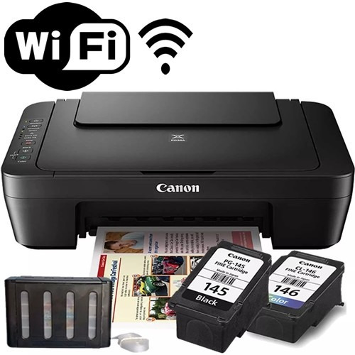 multifuncional wireless bulk ink mg3010 canon e n v i o 24 h