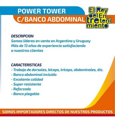 multigimnasio power tower banco abdominal dominadas - el rey