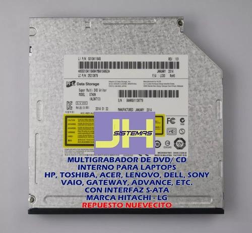 multigrabador interno bluray para laptop ( 100% nuevo )